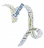 Textcloud: silhouette of capricorn