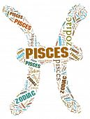Textcloud: silhouette of pisces