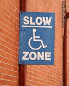 Street Signs Slow Zone poster