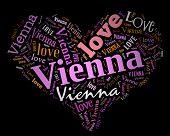 Wordcloud: love heart of city Vienna