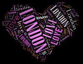 Wordcloud: love heart of city London