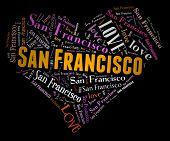 Wordcloud: love heart of city San Francisco