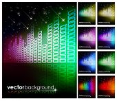 Abstract Colorful Digital Background Set