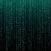 Matrix Texture With Digits. Binary Code, Abstract Futuristic Cyberspace Background. Data Analisys Pa poster