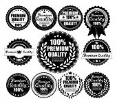 Premium Quality Labels Collection - eleven design elements with retro vintage design