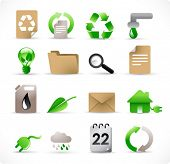 16 environmental icons set for green energy concept (see also other images related to this topic in my portfolio)