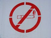 No Smoking Painted Sign
