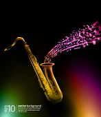 music background - vector saxophone