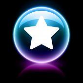 neon glossy web icon - star