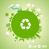 stock photo of sustainable development  - green earth  - JPG