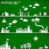 sustainable development concept - ecology backgrounds & elements // see also others from this series in my portfolio