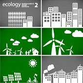 sustainable development concept - ecology backgrounds & elements 2 // see also others from this series in my portfolio