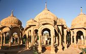 Bada Bagh Cenotaph in Jaisalmer,India
