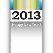 2013 Happy New Year greeting card or background. Copy space for your own message.