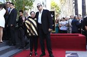 LOS ANGELES -JUL 26: Flor Silvestre, Pepe Aguilar at a ceremony honoring Pepe Aguilar with a Star on