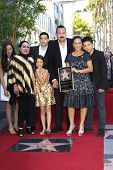 LOS ANGELES -JUL 26: Flor Silvestre; Pepe Aguilar, wife, children at a ceremony honoring Pepe Aguila