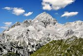 beautiful views of Mount Triglav in the Julian Alps - Slovenia, Europe