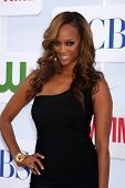 LOS ANGELES - JUL 29:  Tyra Banks arrives at the CBS, CW, and Showtime 2012 Summer TCA party at Beve