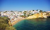 Beach Of Carvoeiro In Algarve Region