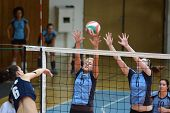 KAPOSVAR, HUNGARY - MARCH 16: Zsofia Horvath (5) in action at the Hungarian Championship volleyball
