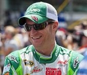 INDIANPOLIS, IN - JUL 29, 2012: Dale Earnhardt, Jr. (88) prepares to race the Sprint Cup Series race