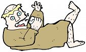 cartoon drunk monk