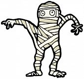 halloween mummy cartoon