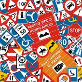 Traffic Signs Background
