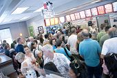PENSACOLA, FL - AUGUST 1, 2012: Patrons shop at Chick-Fil-A restaurant in Pensacola, FL, on August 1