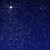image of bethlehem star  - Peaceful sky filled with stars and sparkles - JPG