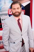 HOLLYWOOD, CA - AUG 2: Actor Zach Galifianakis arrives at the premiere of Warner Bros. Pictures ' Th