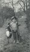 Vintage 1942 Hunting Boy Photo