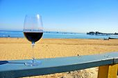 Red Wine At The Beach