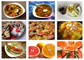 Collage from photos of various dishes