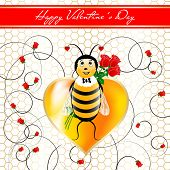 St.valentine`s Day Card