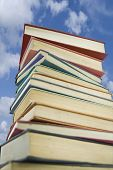 Book Stack Against A Summers Sky