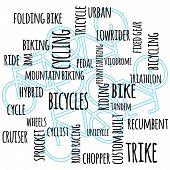 Bike Word Graphic
