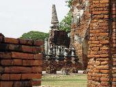 Peaking Head Cut-Off Buddha Images, Chai Wattanaram Temple, Ayutthaya, Thailand