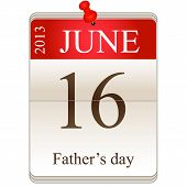 Calendar Of Father's Day 2013