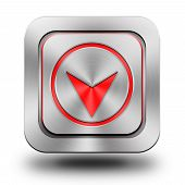 Arrow aluminum glossy icon, button, sign