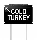 Cold Turkey-Konzept.