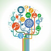 stock photo of cognitive  - Vector education and science concept  - JPG
