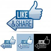 Like and Share Thumbs Up Symbol