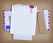Paper Note With Envelop Background.