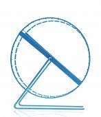 Blue Hamster Wheel