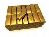 Stack Of Golden Bars