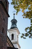 The Bell Tower Of The Cathedral In Sandomierz