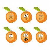 Emotion cartoon peach
