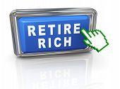 Cursor 3D mão aposentar rico
