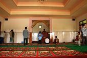 atmosphere inside the mosque